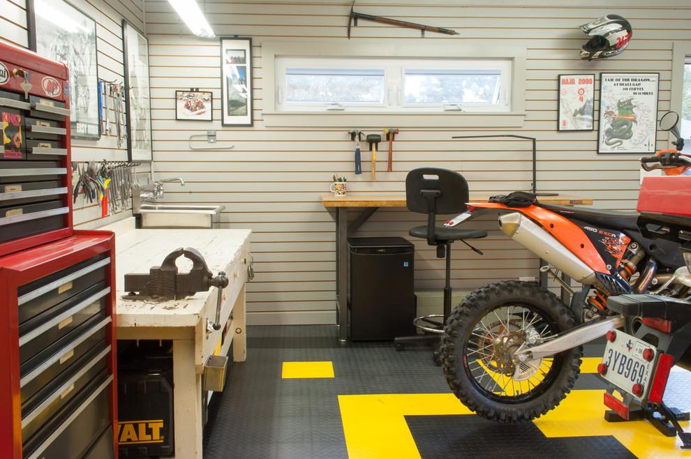 Интерьер креативного гаража