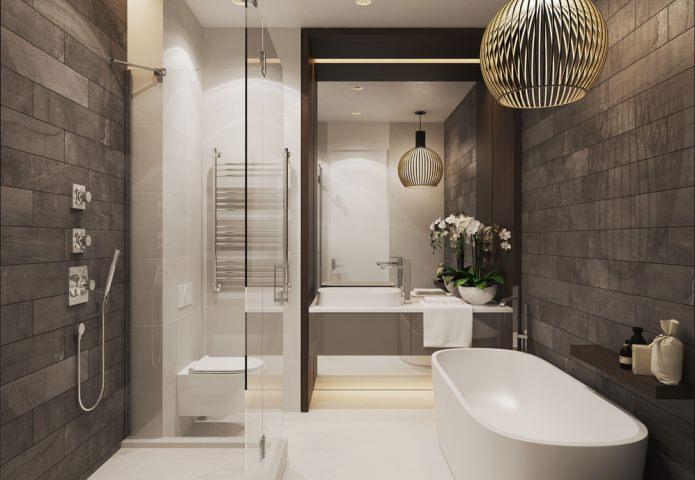 Белая орхидея в ванной