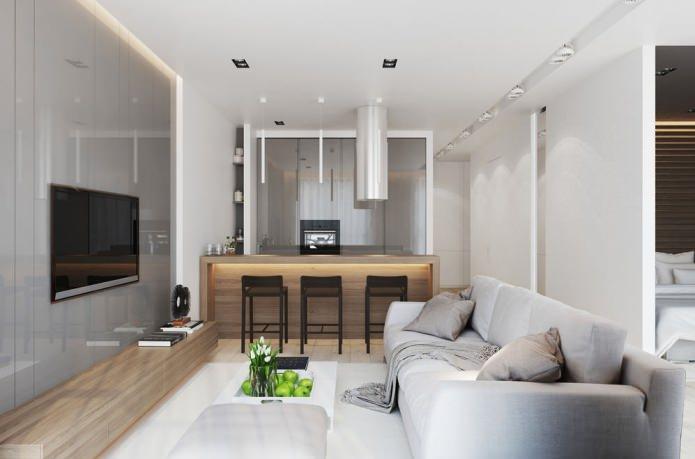 Квартира-студия в серых тонах