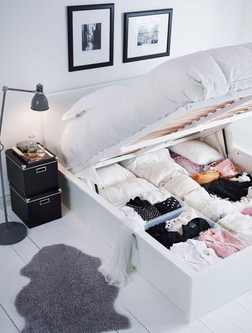 Ниша для хранения под кроватью