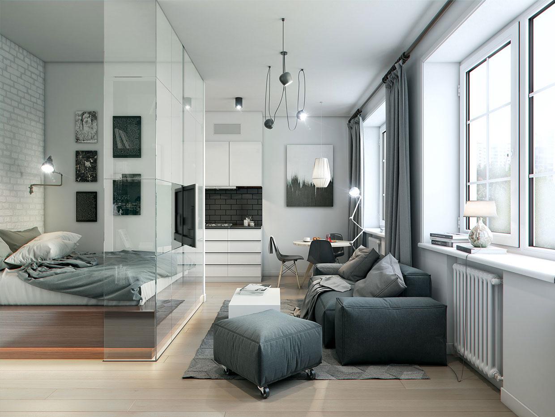 Интерьер квартиры в серых тонах