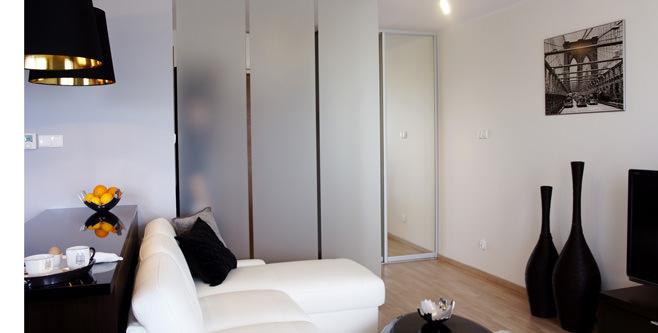 Гостиная современной квартиры-студии