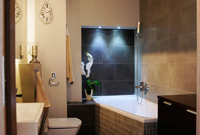 Ванная современной квартиры-студии