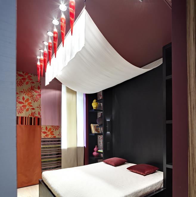Дизайн спальни в стиле фьюжн