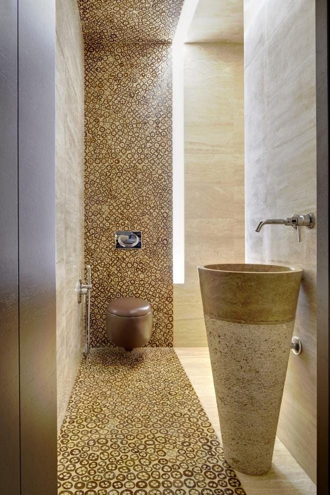 Дизайн гостевого санузла в стиле фьюжн