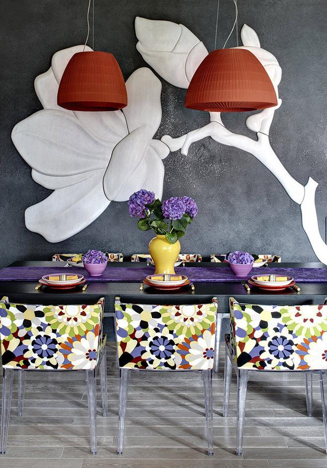 Дизайн столовой в стиле фьюжн