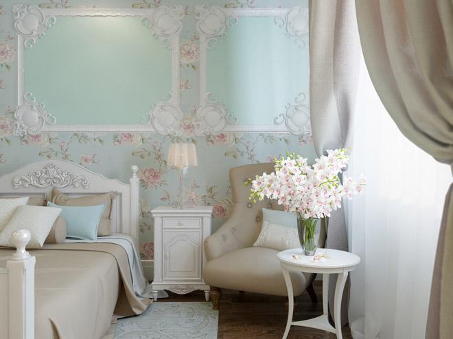 Очаровательный стиль прованс в оформлении спальни