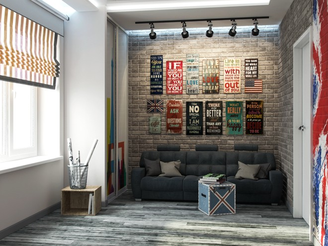 Стильное оформление небольшой гостиной