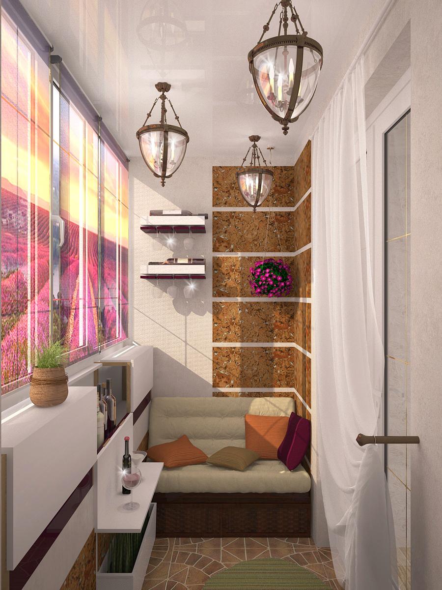 Удивительный дизайн маленького балкона