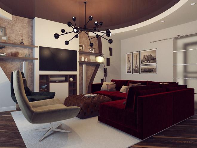 Бесподобный дизайн небольшой гостиной