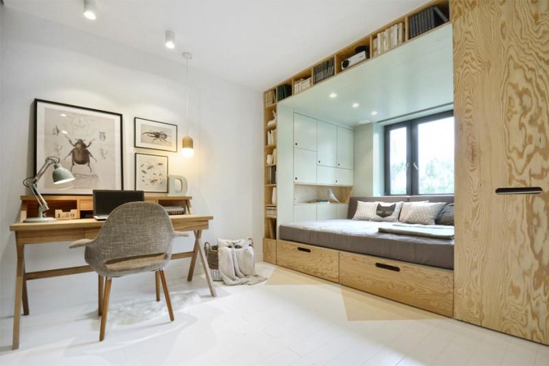 Оформление маленькой комнаты в натуральных тонах