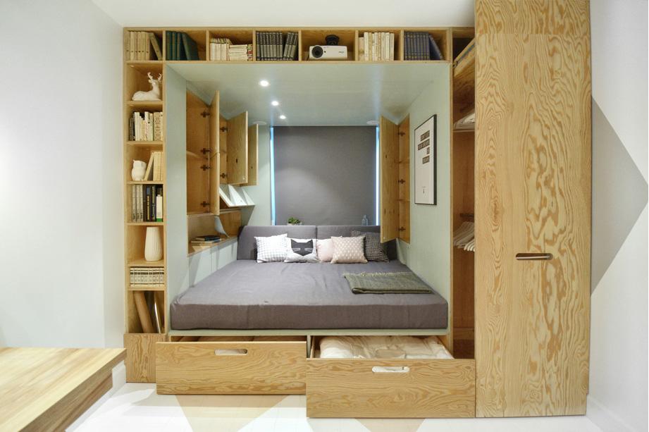 Системы хранения в спальне