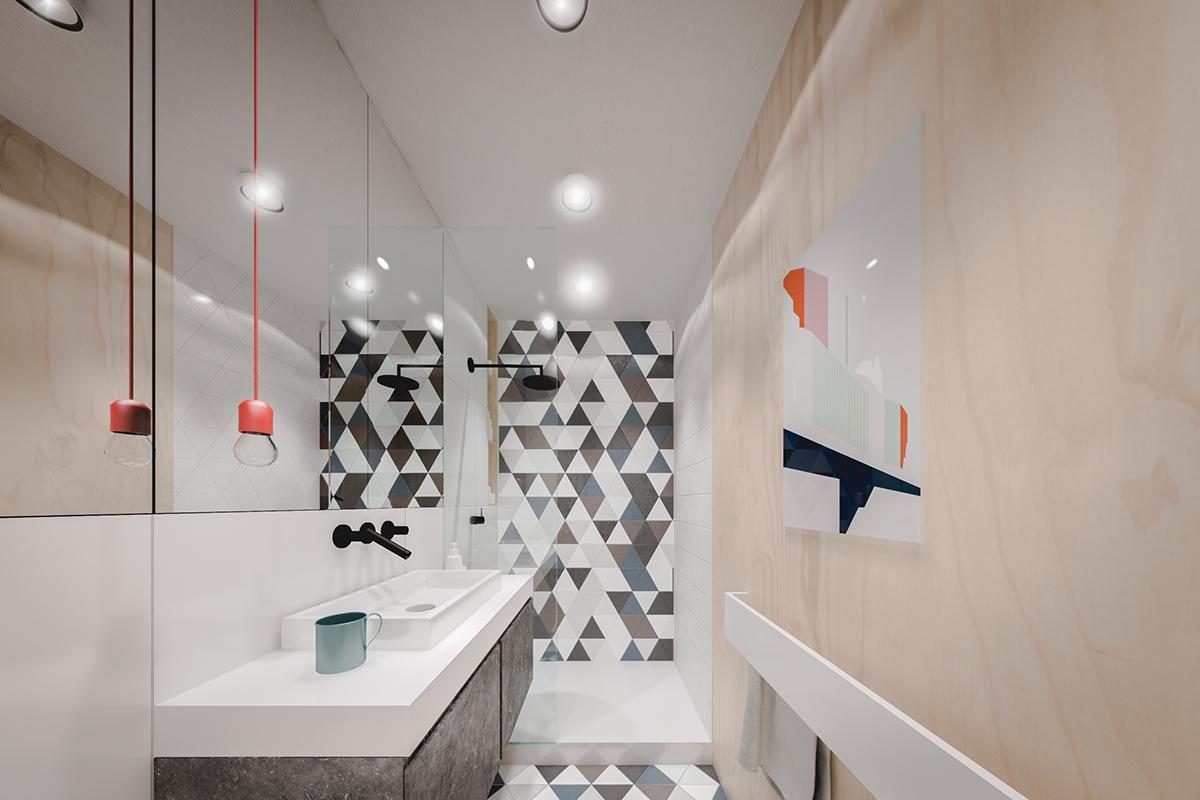 Оформление маленькой ванной в светлых тонах - фото 1