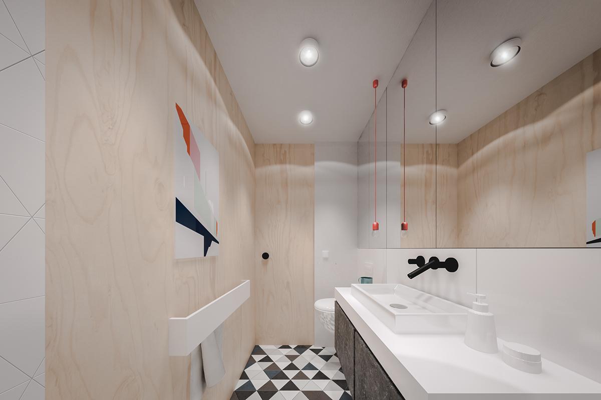 Оформление маленькой ванной в светлых тонах - фото 2