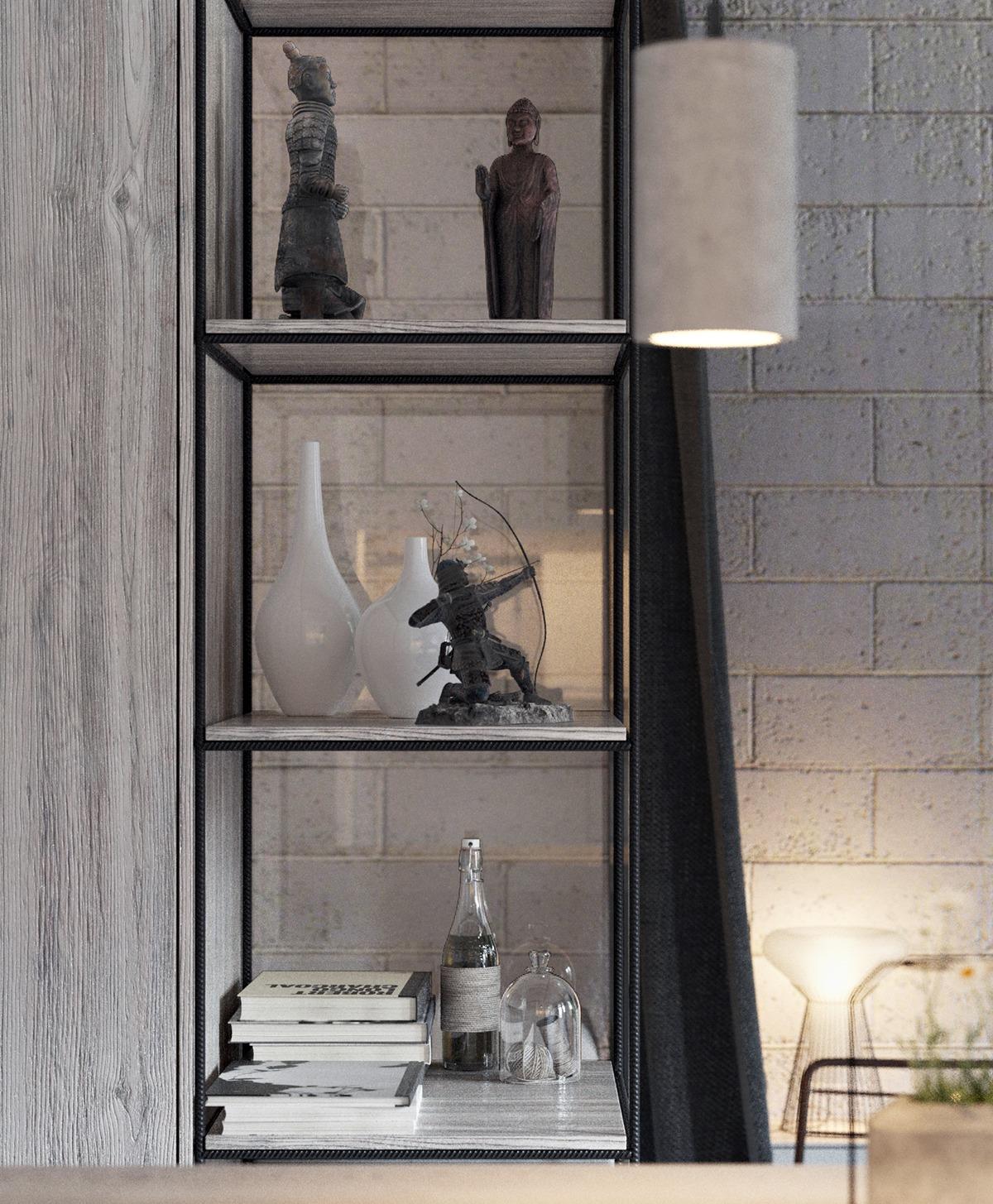 Оформление маленькой квартиры студии в промышленном стиле - фото 2