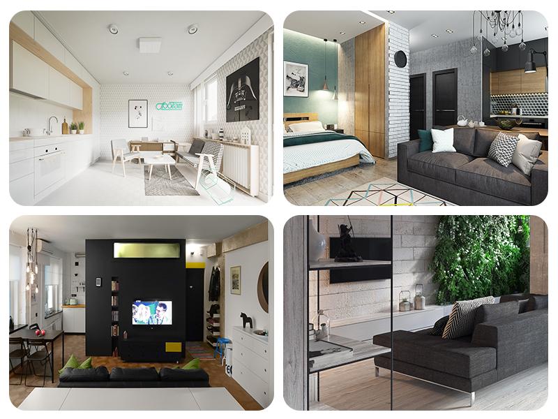 Оформление маленькой квартиры в трёх вариантах