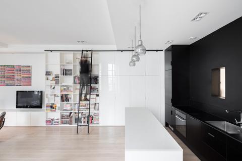 Оформление маленькой квартиры в чёрно-белом стиле