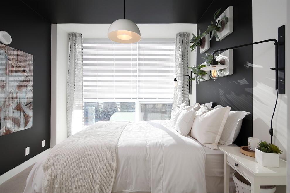 Зеленые растения в интерьере спальни