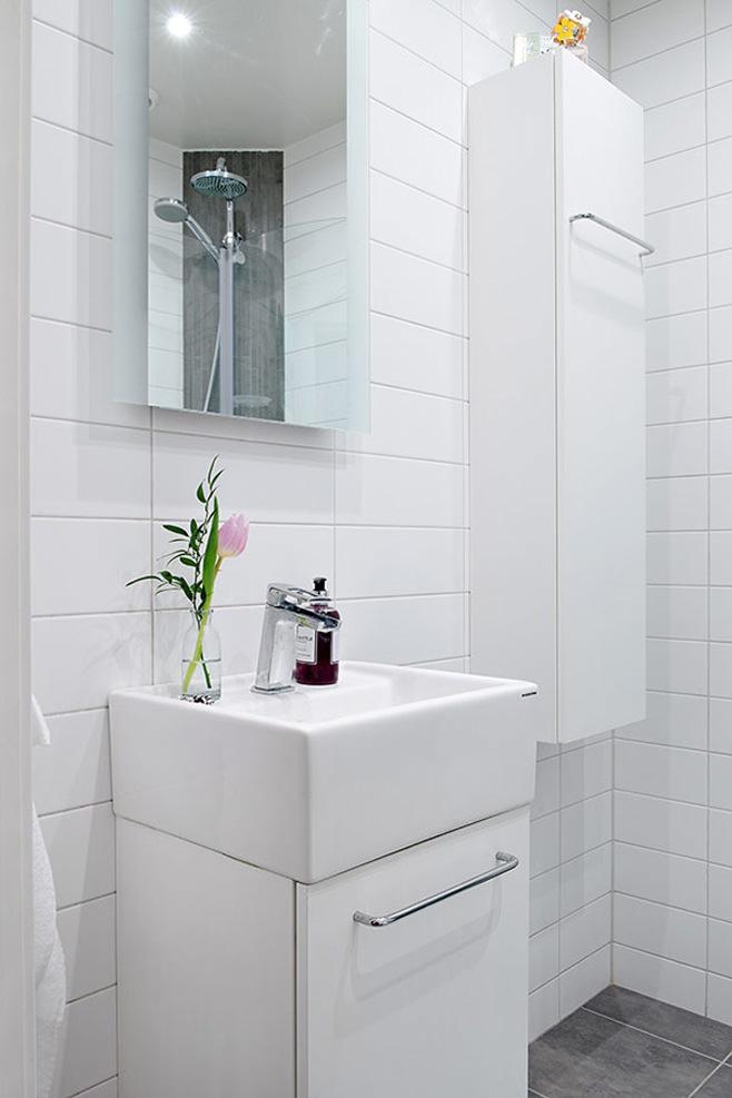 Ванная маленькой квартиры в Готеборге