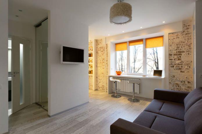 Интерьер маленькой квартиры-студии в Киеве
