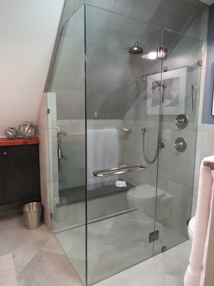 Интерьер маленькой ванной после ремонта