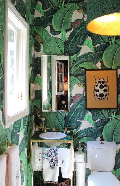 Оформление ванной в стиле джунглей