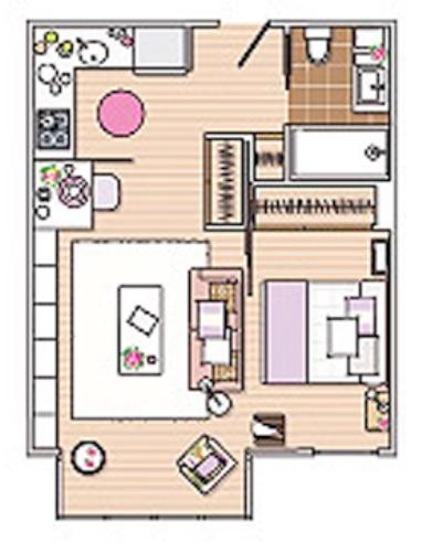 Планировка небольшой однокомнатной квартиры
