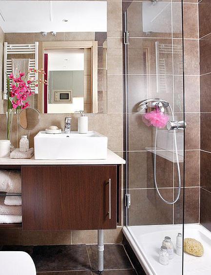 Ванная в коричневом цвете