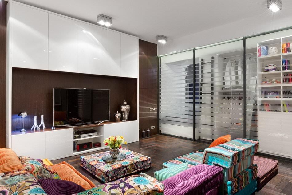 Гостиная стильной квартиры-студии в Киеве