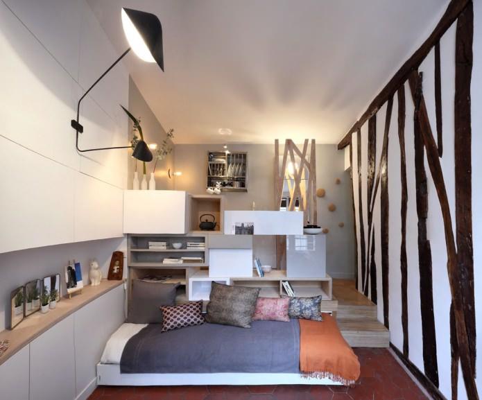 Дизайн интерьера комнаты 12 метров фото