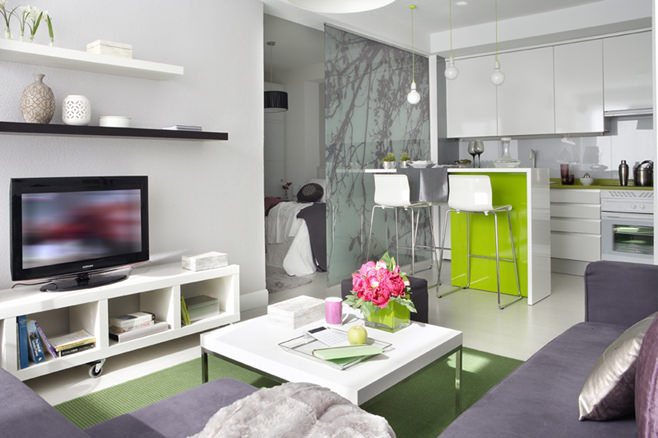 Интерьер квартиры-студии в Испании