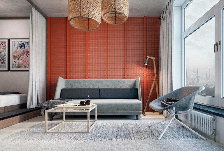 Оформление маленькой квартиры в серых тонах