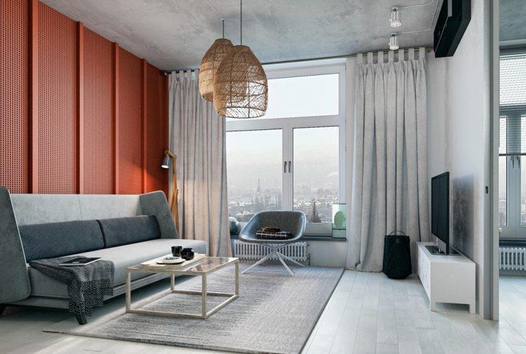 Оформление маленькой квартиры в серых тонах - фото 2