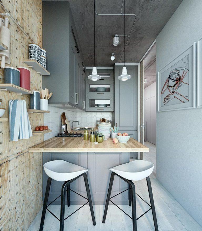 Оформление маленькой квартиры в серых тонах - фото 3