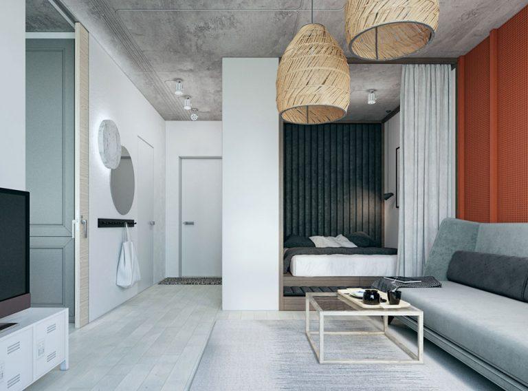 Оформление маленькой квартиры в серых тонах - фото 4