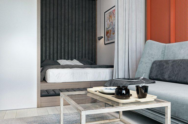 Оформление маленькой квартиры в серых тонах - фото 5