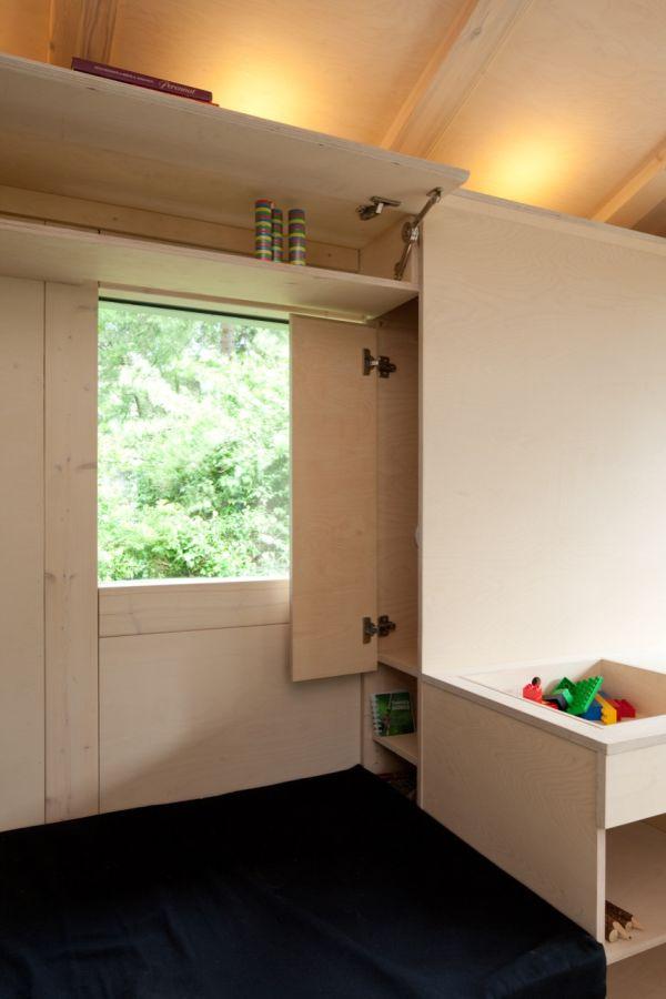 Системы хранения в маленьком коттедже в Финляндии