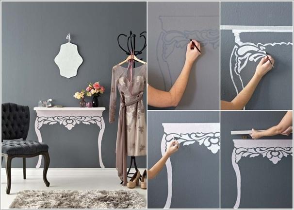 Нарисованная консоль на стене