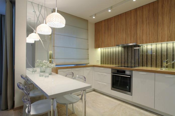 Кухня стильной однокомнатной квартиры