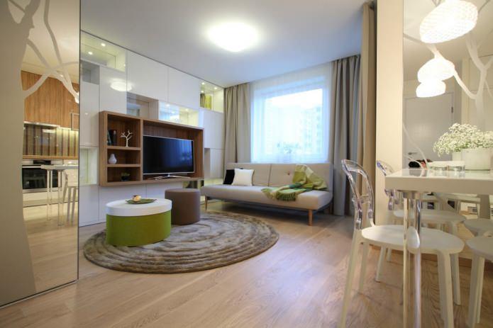 Интерьер стильной однокомнатной квартиры