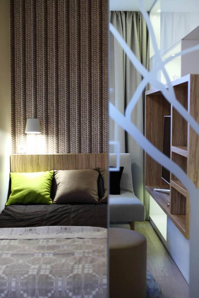 Дизайн интерьера стильной однокомнатной квартиры
