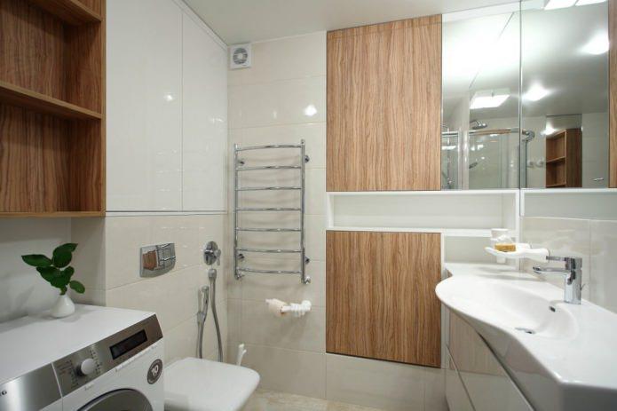 Ванная стильной однокомнатной квартиры