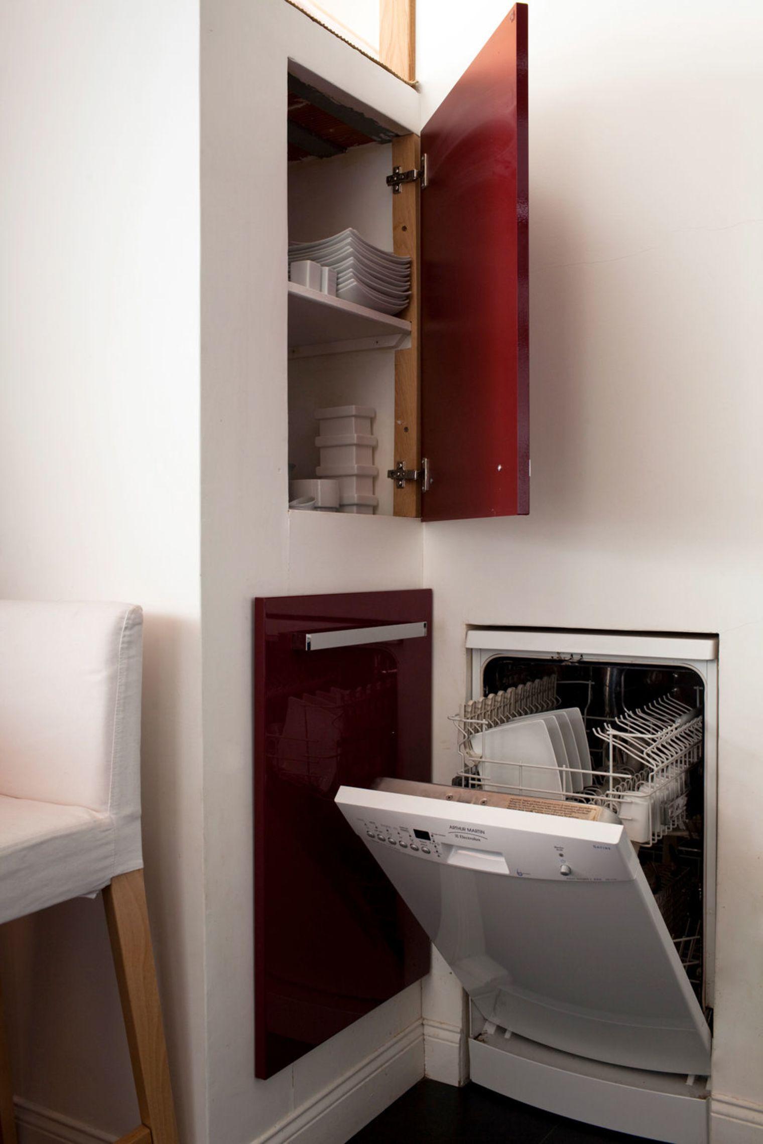 Встроенная техника в дизайне маленькой кухни