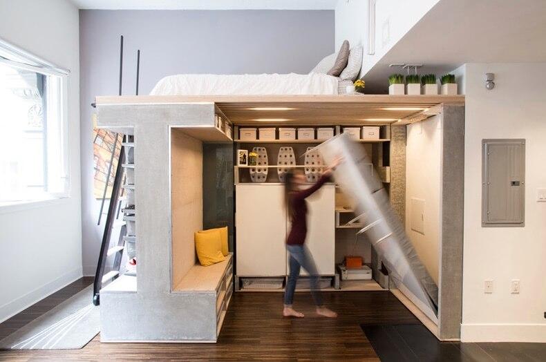 Складная кровать в маленькой квартире