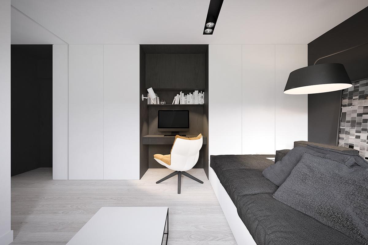 Маленький кабинет в нише