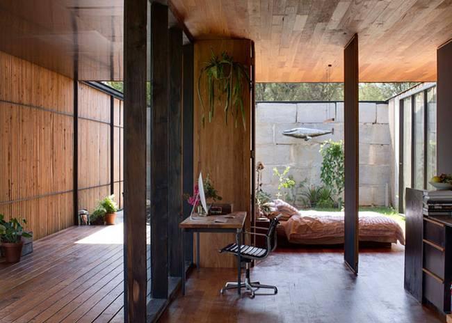 Недорогой дом из бетонных блоков без перегородок - фото 1