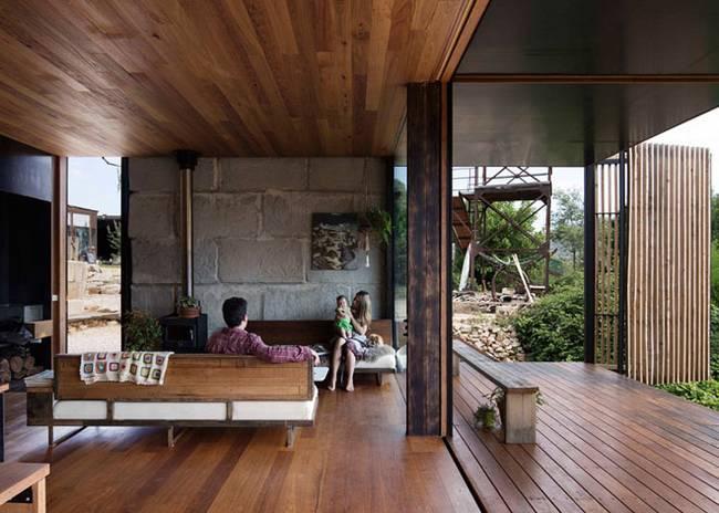 Недорогой дом из бетонных блоков без перегородок - фото 2
