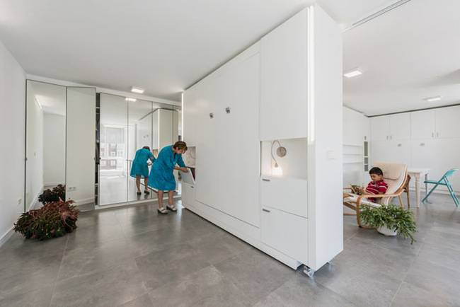 Стена-трансформер как система хранения