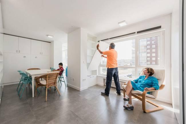 Квартира со стенами-трансформерами в стиле минимализм