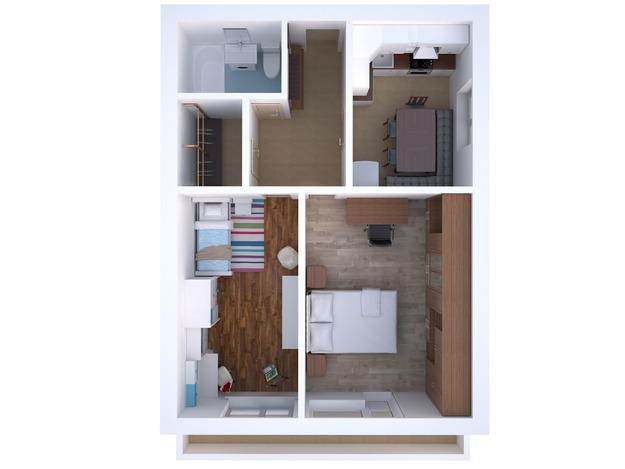 Планировка двухкомнатной квартиры для семьи с ребёнком
